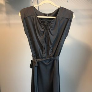 Silk Grey Banana Republic Dress